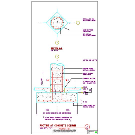 Fg02 0 Concrete Column Footings Details Axiomcpl