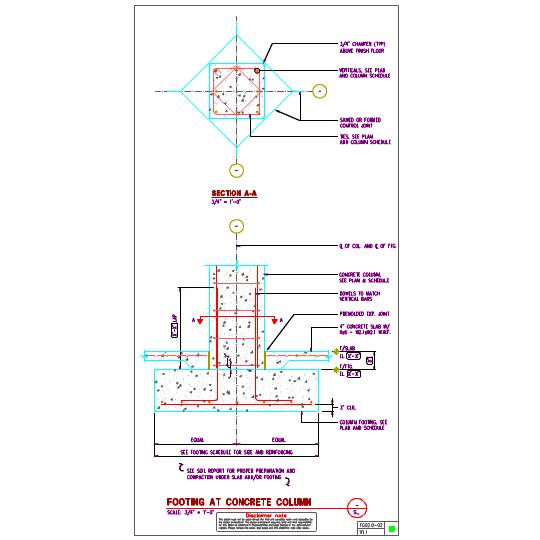 Column Footing http://www.axiomcpl.com/dwg/fg/FG02.0-concrete-column-footings.php