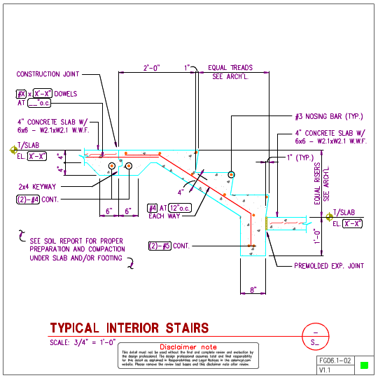 FG06 1 - Interior Concrete Stair Details | AxiomCpl: Central