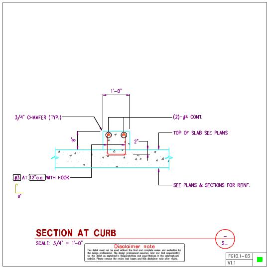 FG10 1 - Concrete Curb Details | AxiomCpl: Central Professional Library