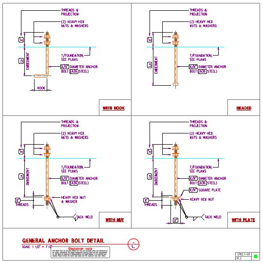 St02 1 Steel Anchor Bolts Details Axiomcpl Central