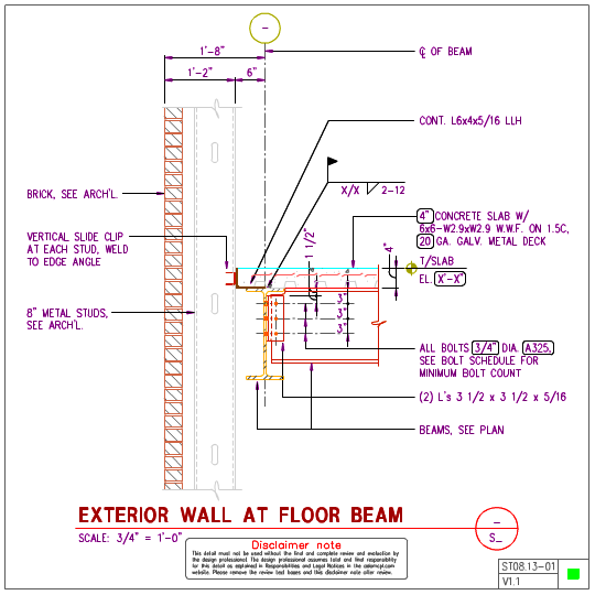 how to connect metal studs to fireproofed structural steel