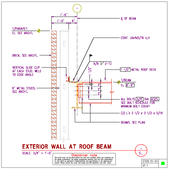 Metal Wall Studs st09.10 - steel roof with 6 inch metal stud wall | axiomcpl